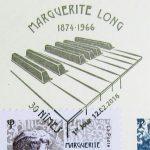 Premier jour, oblitération du timbre à date Marguerite Long