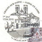 Premier jour, oblitération du timbre à date Chalon-sur-Saône