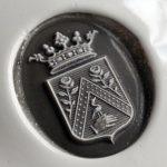 Écu droit, couronne de marquis (cire)